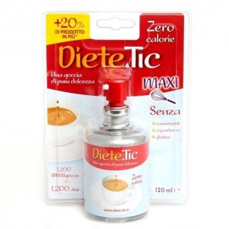 DIETE TIC MAXI 120 ml DOLCIFICANTE LIQUIDO zero calorie, senza glutine