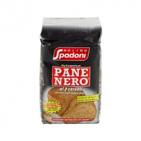 Molino Spadoni Preparato Per Pane Nero Ai Cereali