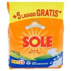 Sole Detersivo Lavatrice in Polvere con Bicarbonato 18+5 misurini