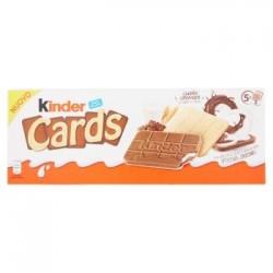 Kinder Cards 10 Biscotti a cialda con latte e cioccolato 180 gr