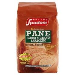 Molino Spadoni Preparato Per Pane Farro  E Grano Saraceno 1kg