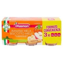 Plasmon Banana Mela Biscotto Miele Omogenizzato 3 X 120 gr